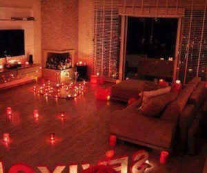 love, romantic, and candle image