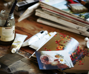 art, paint, and vintage image
