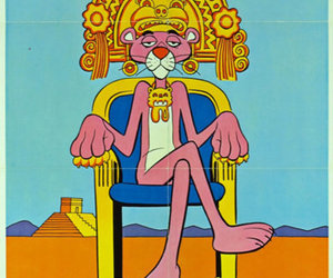 pink panther, pink, and panther image
