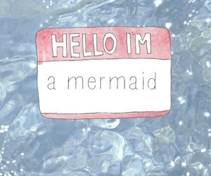 mermaid, wallpaper, and hello image