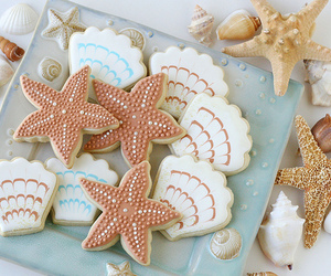 Cookies, food, and sea image