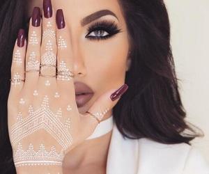 makeup, nails, and henna image
