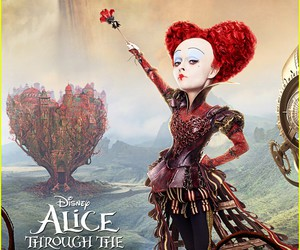 alice, movie, and looking glass image