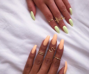 nails, orange, and green image
