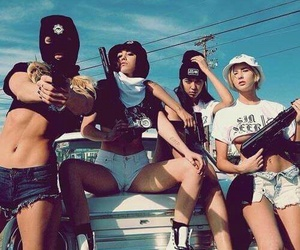 gun, friends, and gangster image