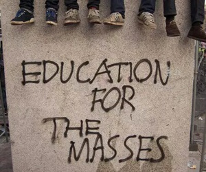 education and text image