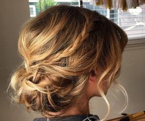 braid, bun, and casual image