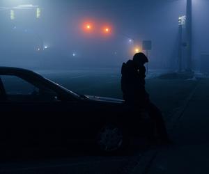 grunge, boy, and night image