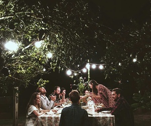 dinner, family, and friends image