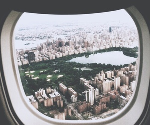 airplane, city, and avión image