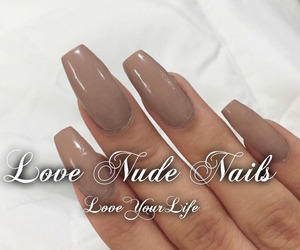 nails, nude color, and nude nails image