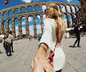 travel, couple, and rome image