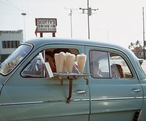 vintage, car, and milkshake image