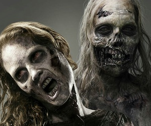 zombie, the walking dead, and black and white image