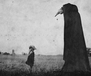 creepy and black and white image
