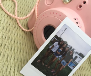 pink, polaroid, and friends image