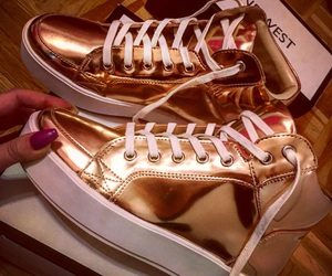 nine west, sneakers, and rose gold image