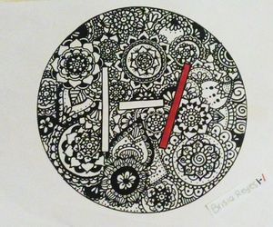 art, rock, and zentangle image