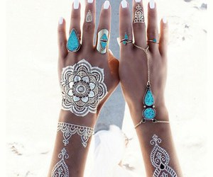 nails, summer, and tattoo image