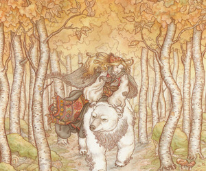 art, forest, and bear image
