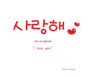 I Love You, korean, and saranghae image