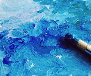 art, texture, and blue image