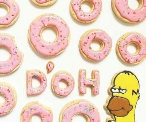 donuts, food, and simpson image