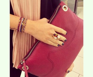 accesories, bracelet, and burgundy image