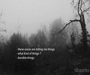 voice, sad, and dark image