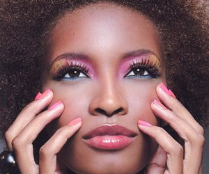 african american, Afro, and pink image