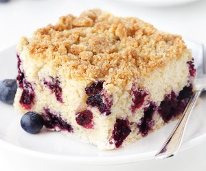 blueberry, cake, and coffee cake image