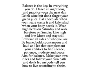balance, positive, and quote image