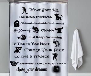 curtain, disney, and shower image