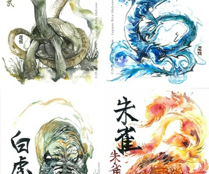 dragon, eagle, and illustration image
