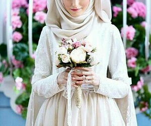 hijab and wedding image