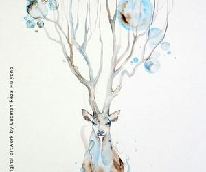 art, blue, and bubbles image