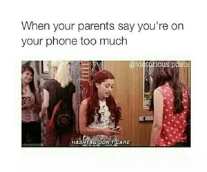funny, phone, and ariana grande image