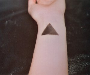 hand, hipster, and triangle image