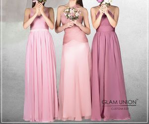 bridal, bridesmaid, and long dress image