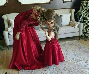 baby, dress, and mother image