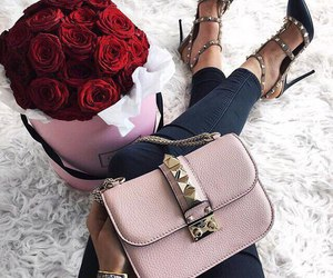 rose, Valentino, and shoes image