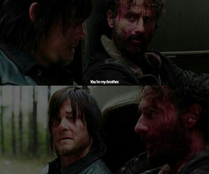 blood, twd, and brother image