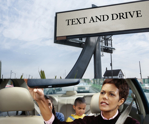 text messages, texting and driving, and self-driving cars image