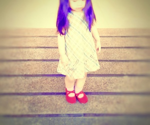 doll shoes, little girl, and red shoes image