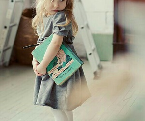 cute, book, and baby image