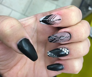 black, nails, and Nude image