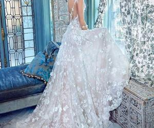 wedding dress, dress, and luxury image