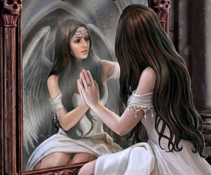 angel, mirror, and fantasy image