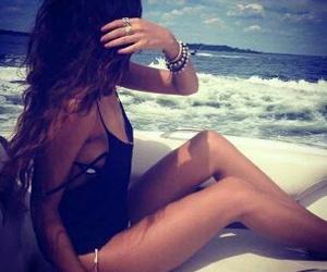 baby, beach, and sun image