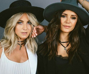 Nina Dobrev and julianne hough image